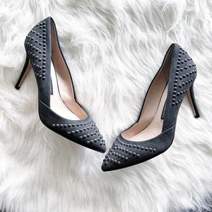 French Connection Elmyra Studded Suede Pumps
